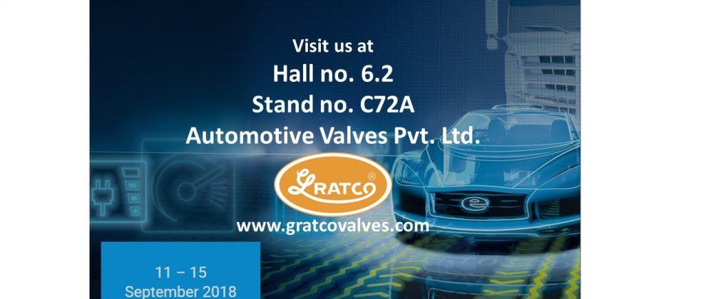 Visit us at Stand no. C72A, Hall no. 6.2 at Automechanika Frankfurt 2018, Germany