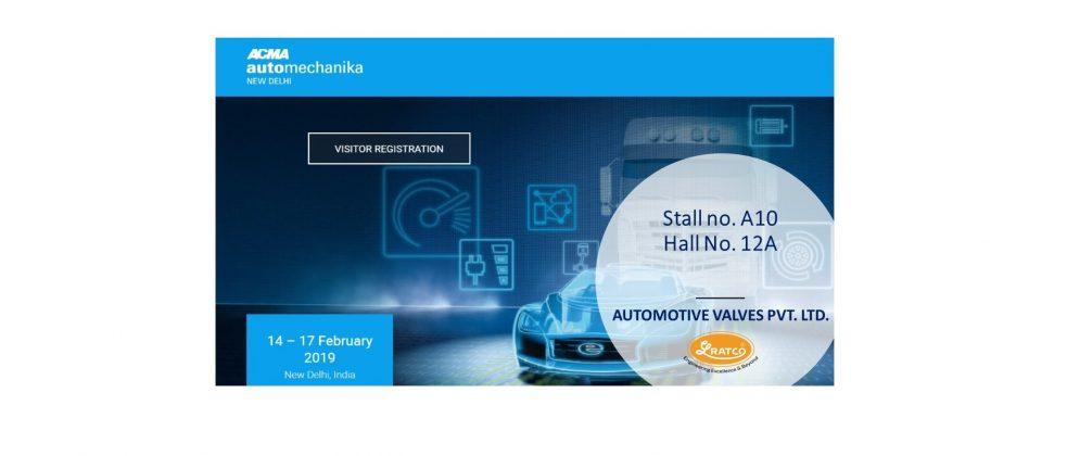 Visit us at Stand no. A10, Hall no. 12A at Automechanika New Delhi 2019